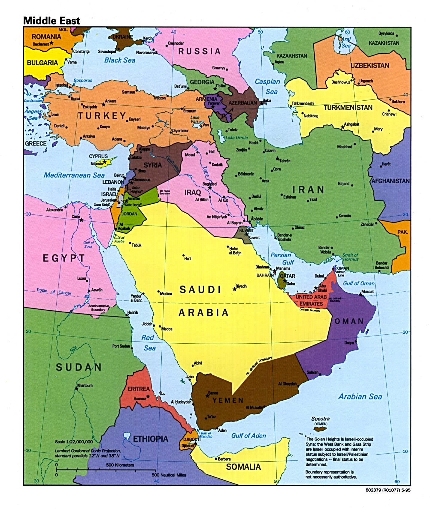 Middle East Map 1930